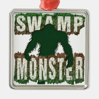SWAMP MONSTER Silver-Colored SQUARE DECORATION