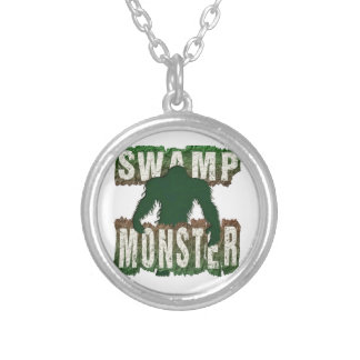 SWAMP MONSTER SILVER PLATED NECKLACE