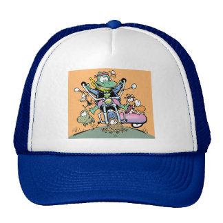 Swamp On The Road Again Cap Mesh Hats
