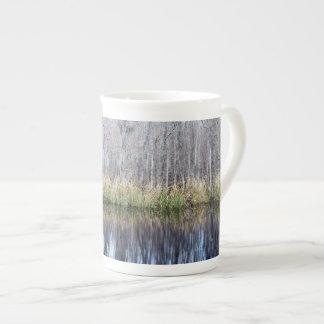 Swamp Reflection Bone China Mug