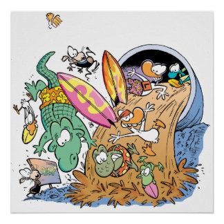 Swamp Sludge Pipe Surfing Poster