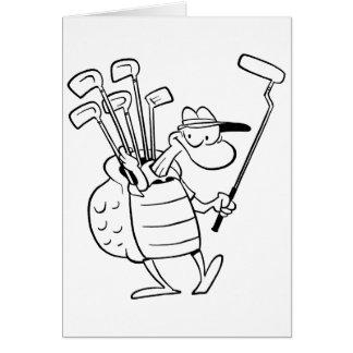 Swamp Turtle Golf Caddy Card