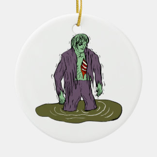 Swamp Zombie Christmas Ornament