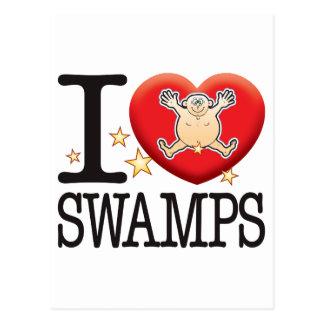 Swamps Love Man Postcard