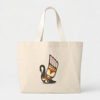 swan 001 large tote bag