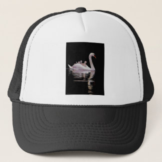 SWAN AND BROOD TRUCKER HAT