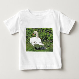 Swan and_cygnets baby T-Shirt