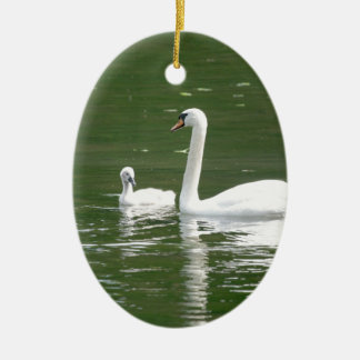 Swan and her Cygnet Christmas Ornament