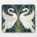 Swan and Rush and Iris wallpaper Mousepad