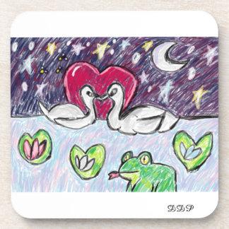 swan art coaster