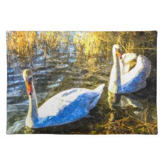 Swan Art Placemat