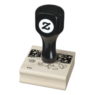 swan art rubber stamp