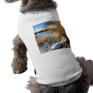 Swan Art Sleeveless Dog Shirt