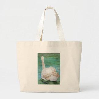 Swan Art Tote Bag
