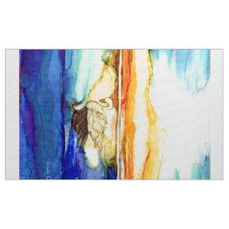 "Swan at Sunset Polyester Poplin 60"" Fabric"