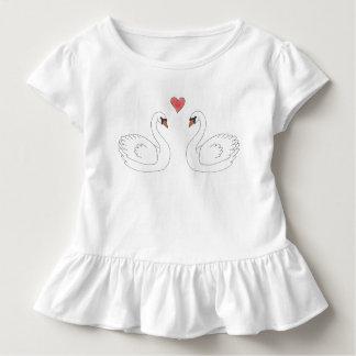 Swan Baby Ruffle Tee