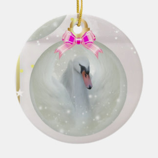 Swan Bauble In Christmas Ornament