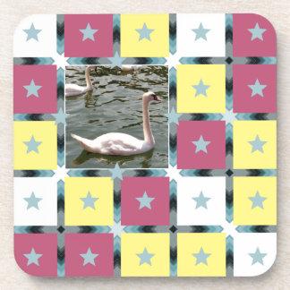 Swan Bespoke Pattern Coaster