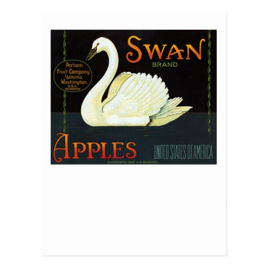 Swan Brand Apples Postcard