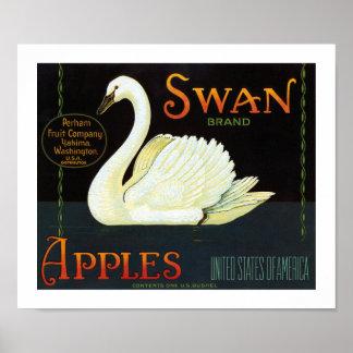 Swan Brand Apples Poster