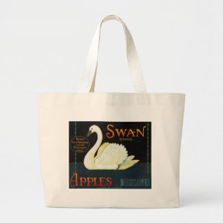 Swan Brand Apples Washington State Crate Label Jumbo Tote Bag