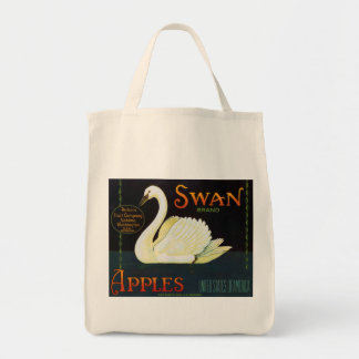Swan Brand Apples Washington State Crate Label Grocery Tote Bag