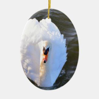 Swan Ceramic Oval Decoration
