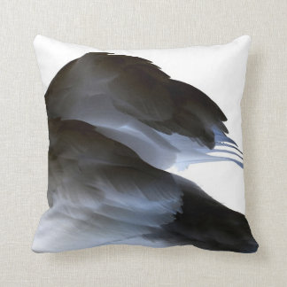 swan clipped wings invert abstract bird cushion