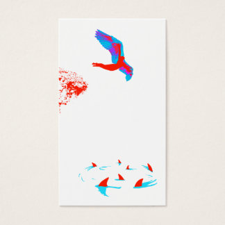 swan dive business card