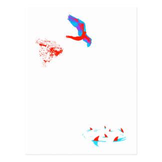 swan dive post card