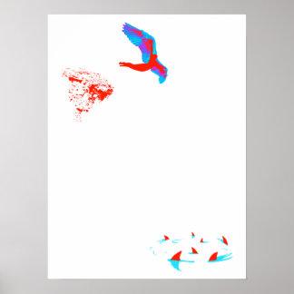 swan dive print