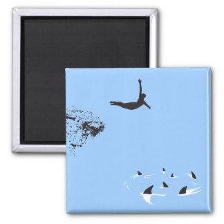 swan dive refrigerator magnet