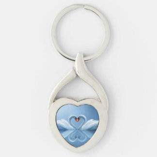 Swan Eternal Love Key Ring