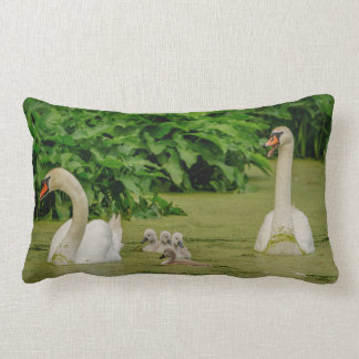Swan Family Lumbar Pillow