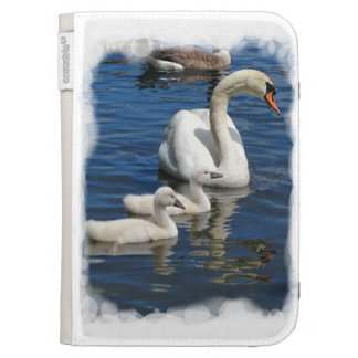 Swan Family w Kindle case