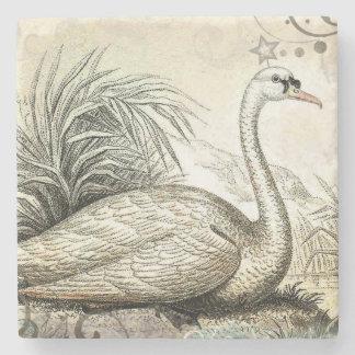 Swan Graphic Stone Coaster