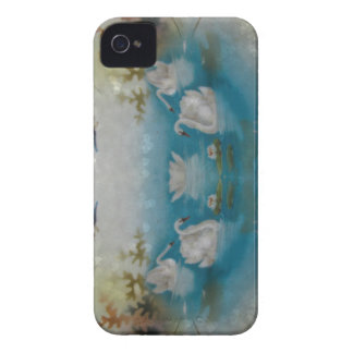 Swan heart print iPhone 4 Case-Mate cases