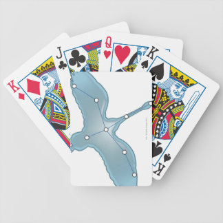 Swan in Flight Bicycle Playing Cards