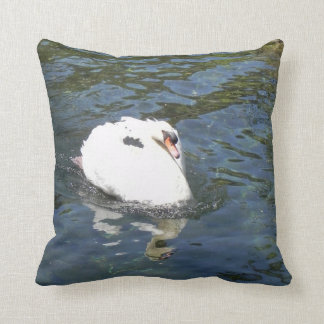 swan in the lake cushion