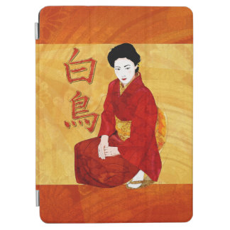 Swan Japanese Geisha Folk Art iPad Air Cover
