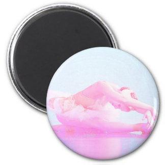 Swan Lake 6 Cm Round Magnet
