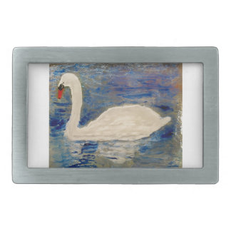 Swan Lake Art Rectangular Belt Buckle