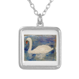 Swan Lake Art Silver Plated Necklace