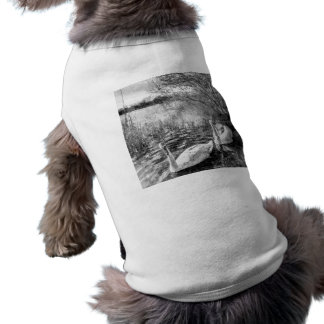 Swan Lake Art Sleeveless Dog Shirt