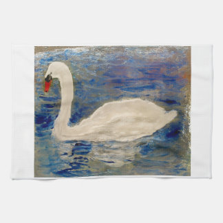 Swan Lake Art Tea Towel