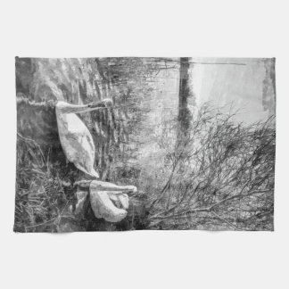 Swan Lake Art Towel