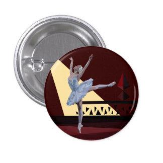 'Swan Lake Ballerina' 3 Cm Round Badge