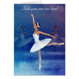 Swan Lake Ballerina -- a Graceful, Feminine Design Card