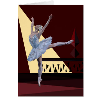'Swan Lake Ballerina' A horizontal customizable Card