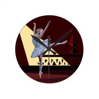 'Swan Lake Ballerina' custom Round Clock